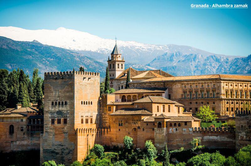 Andaluzijska tura Granada evropske metropole čarter let paket aranžmani