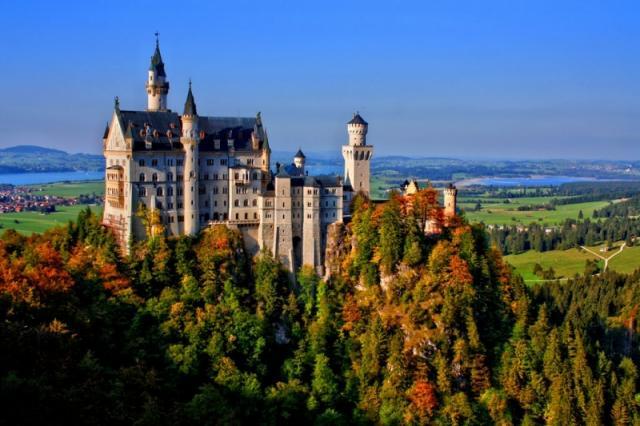 dvorci bavarske jesenja putovanja evropske metropole gradovic