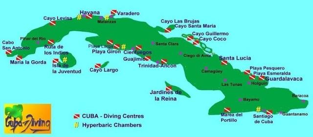 Kuba mapa paket aranzmani individualna putovanja daleke destinacije