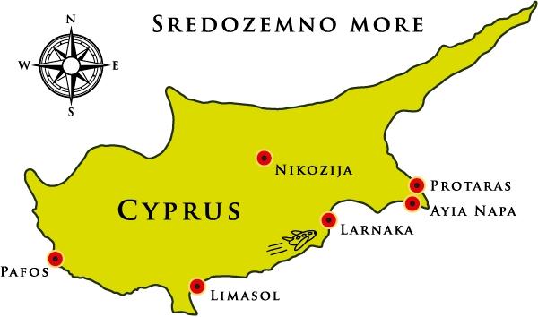 Kipar Mapa Larnaka mapa