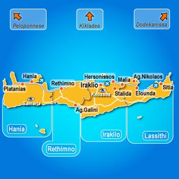 Krit mapa hanja retimno hoteli i apartmani aranžmani ponuda