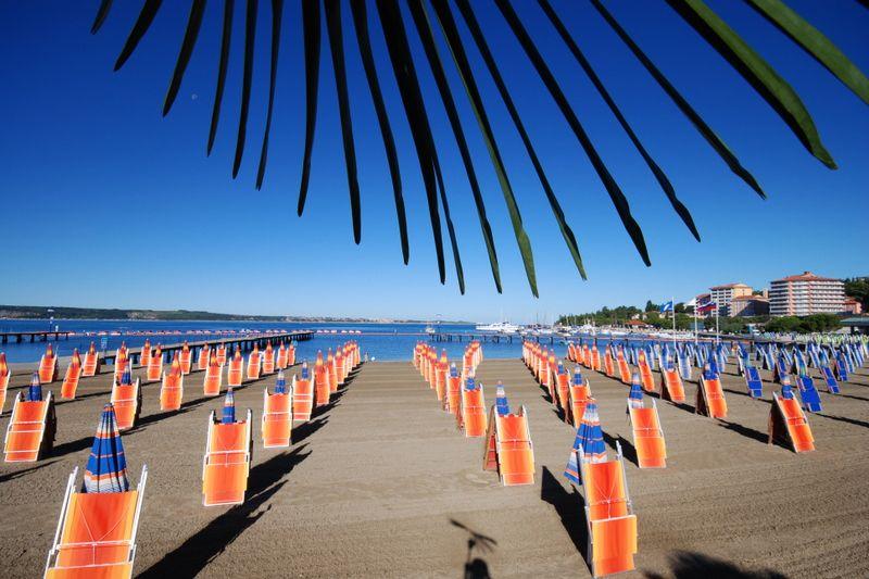 Portorož plaže letovanje mesta hoteli aranžmani Slovenija