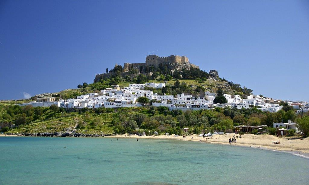 Grad Lindos u Rodosu u Grčkoj