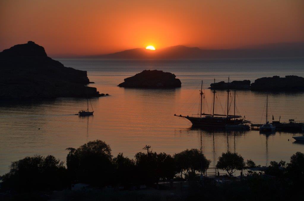Zalazak na ostrvu Rodos u Grčkoj