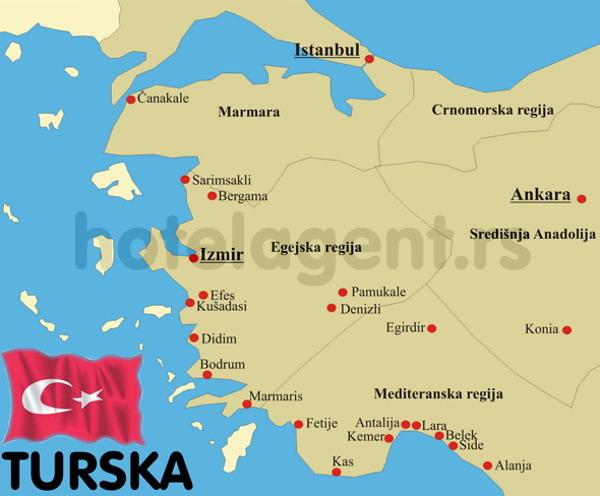 TURSKA SARIMSAKLI LETO 2017 HOTELI CENE MAPA