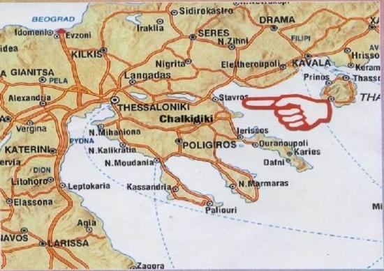 Stavros mapa - mapa Stavrosa cene apartmana