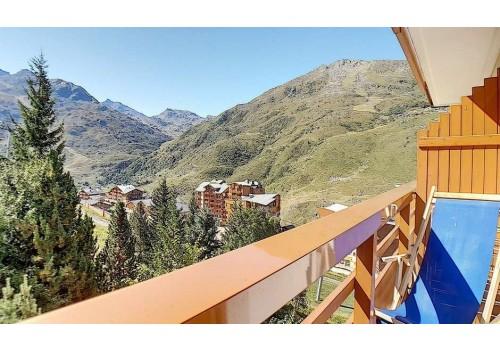 Apartmani Boedette A Les Menuires zimovanje Francuska zima skijanje terasa