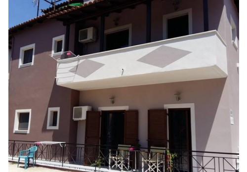 Vila Fotini Sivota grčka letovanje apartman studio leto more spolja
