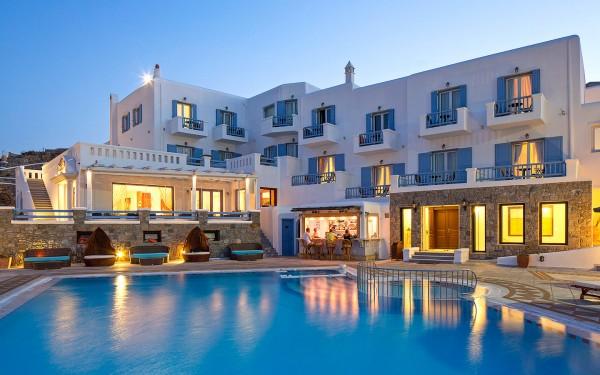 Grčka Mikonos avion hoteli