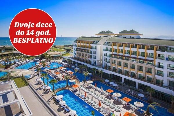 Hotel Port River Side Turska dvoje dece gratis besplatno Aqua park tobogani paket aranžman letovanje smeštaj
