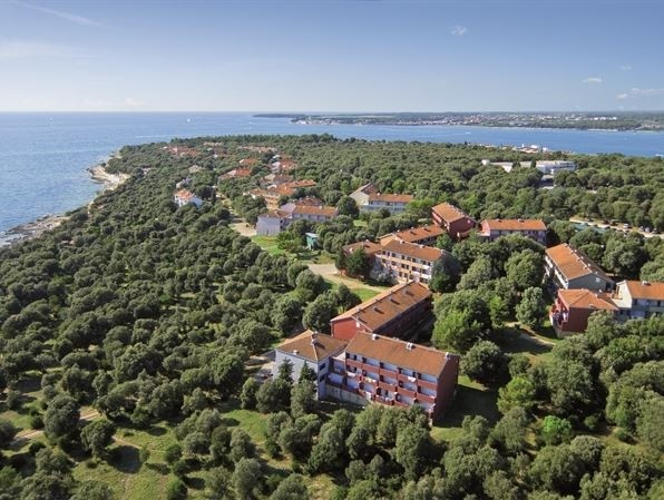 Hotel Valamar Parentino ex Zagreb Poreč Jadran more aerial view