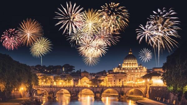 Rim avionom Nova godina doček