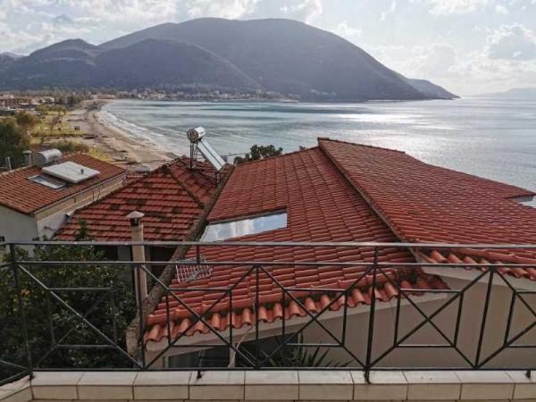 Vila Altina Vasiliki letovanje Lefkada smeštaj pogled terasa