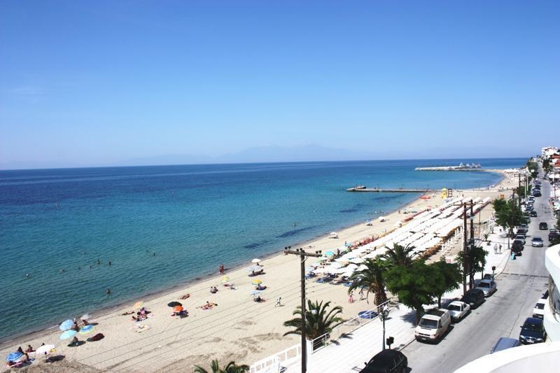 Nea Kalikratia plaža Grčka letovanje apartmanski smeštaj