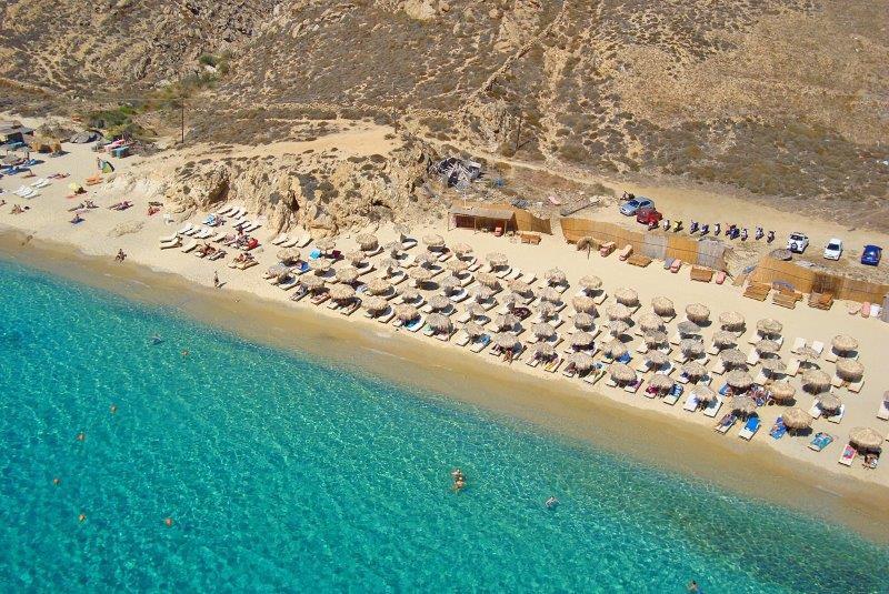Mikonos najbolje plaze i zurke Elia plaza letovanje