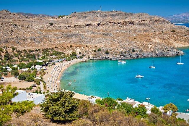 Lindos plaža Rodos Grčka
