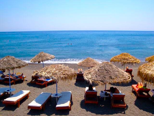 Plaže Santorini Grčka letovanje