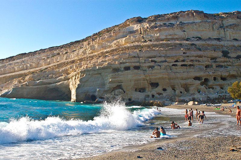 Najbolje plaže Krit - Matala Plaža Grčka