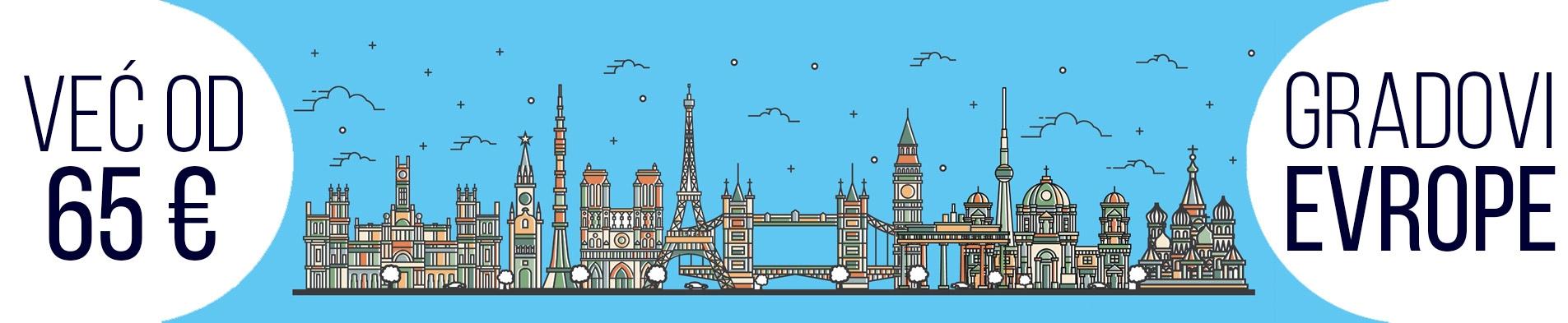 Gradovi Evrope jesenja putovanja naslovna slajder