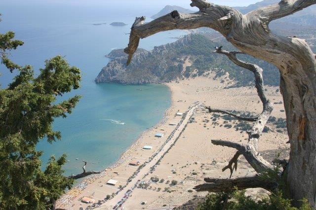 Tsambika plaža Rodos Grčka