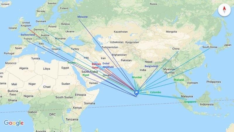mapa Maldiva